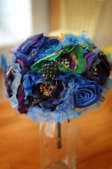 Peacock Inspired Bouquet by Handcrafted Whimsy, Wedding Accessories