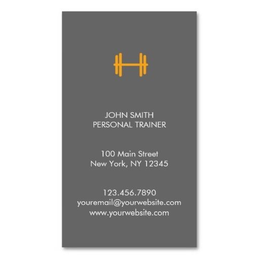 Best Fitness Trainer Business Cards Images On Pinterest - Personal trainer business cards templates