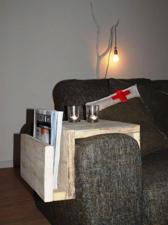 a side table and a remote/magazine storage. very handy.