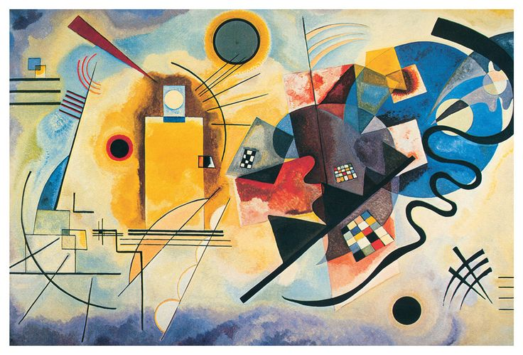 Art Painting Of A Yellow Square Kandinsky
