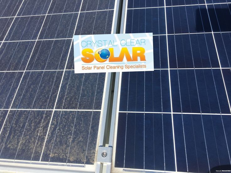 Spot the difference between a dirty and clean solar panel? A yearly Clean will increase your efficiency by 5-30%