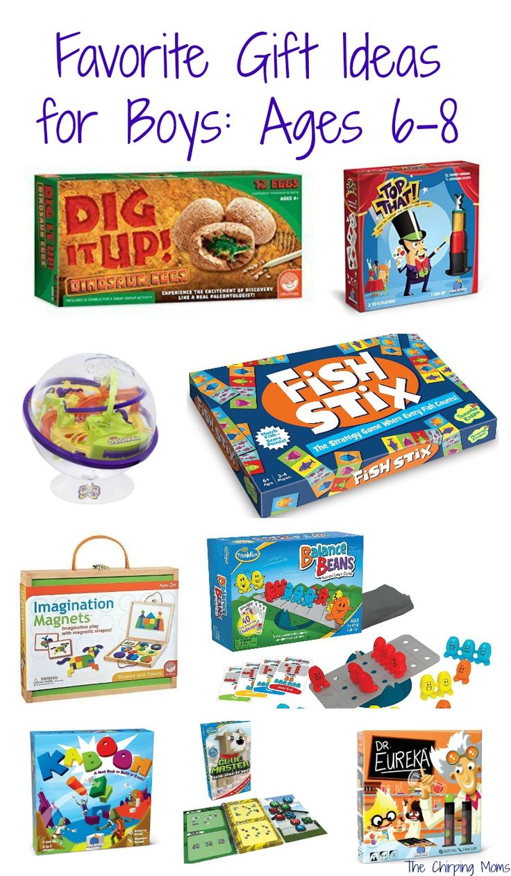 50 Favorite Gift Ideas for Boys Ages 68 Christmas