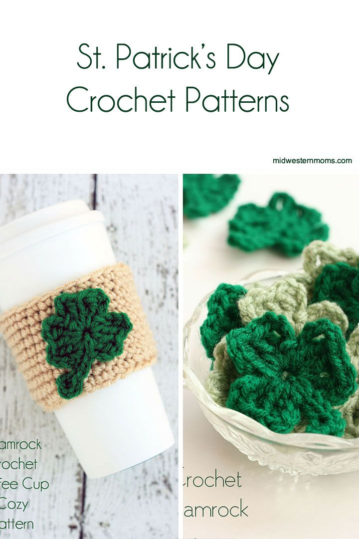 Mejores 26 imágenes de Crochet st Patrick\'s day en Pinterest   Punto ...
