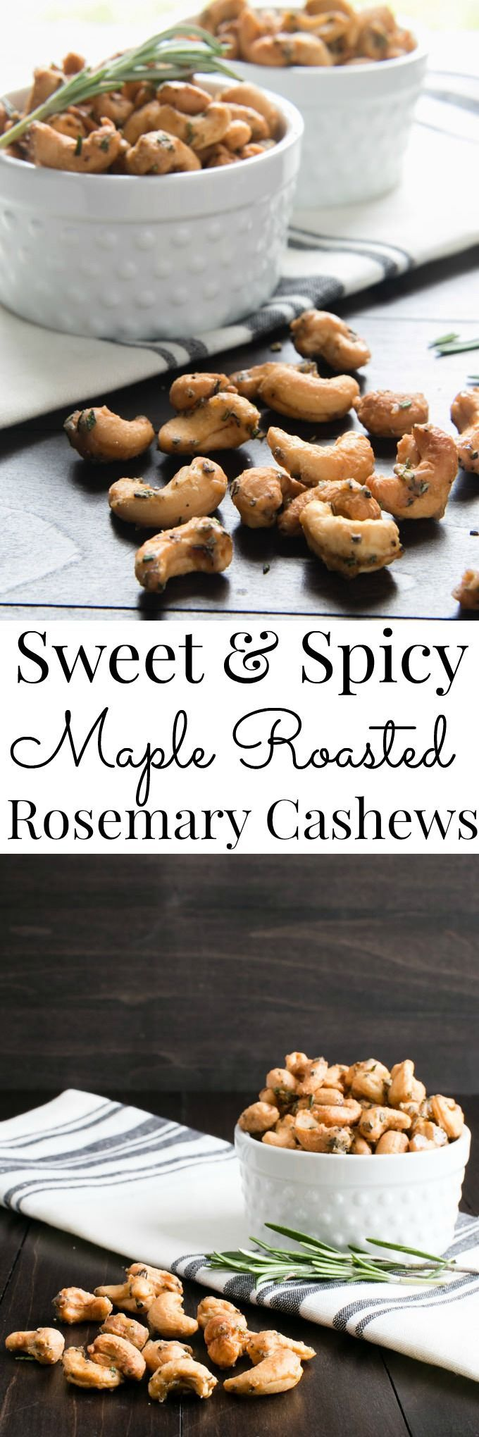 A contrast of spices, rosemary and sweet come together in this Vegan grab and go snack or appetizer. | Vanilla And Bean