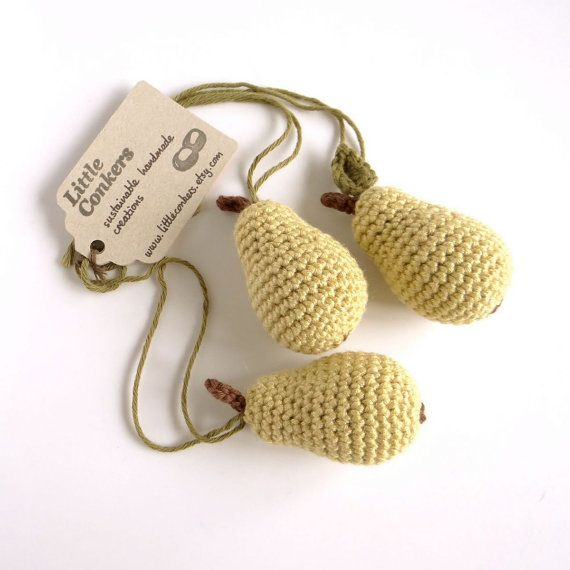 Pear Ornaments / Pear Decorations / Christmas by LittleConkers