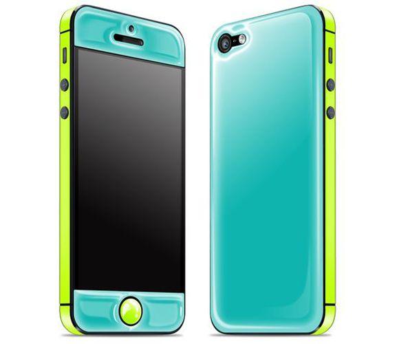 Teal/Neon Yellow Glow in Dark iPhone Case ♥ SO Cool Love Mine!