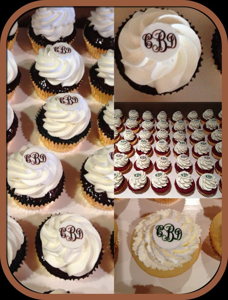 Monogram cupcakes! oh. my. goodness.