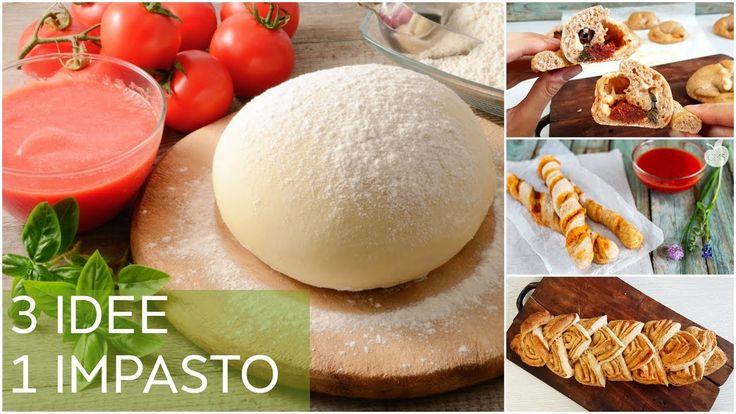 3 RICETTE CON 1 SOLO IMPASTO PER LA PIZZA | CORNETTI SALATI | GRISSINI |...