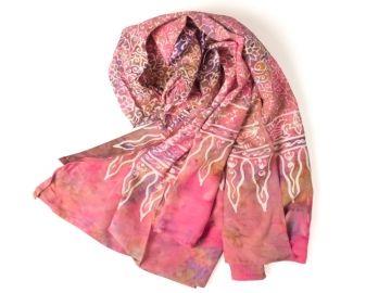 pink gebatikter Sarong von kadoh