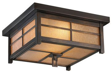 Capistrano Outdoor Flush Mount, 401080ST - traditional - outdoor lighting - Masins Furniture