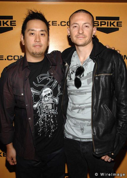 Linkin Park Joe hahn and Chester Bennington