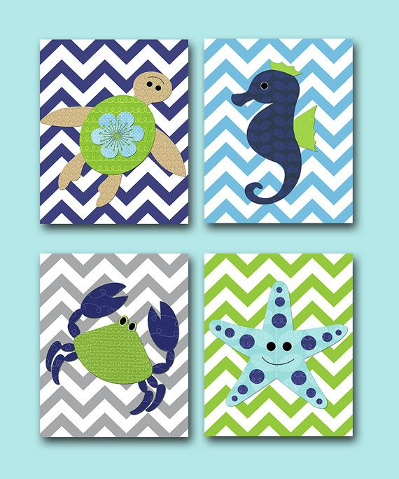 Sea Crab Baby Boy Nursery art print Children Wall by artbynataera, $56.00