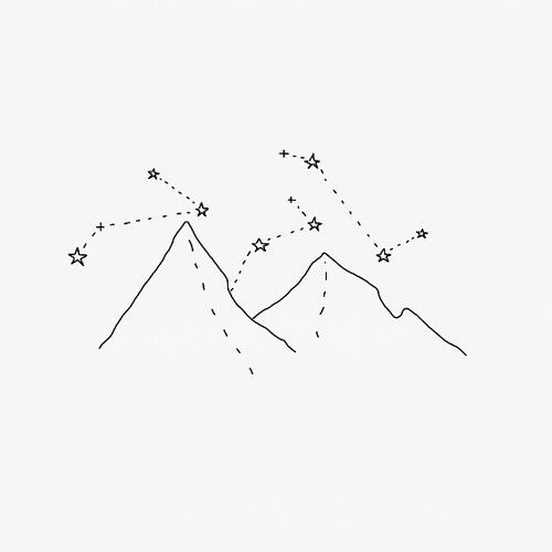 mountains, stars, and constellation image