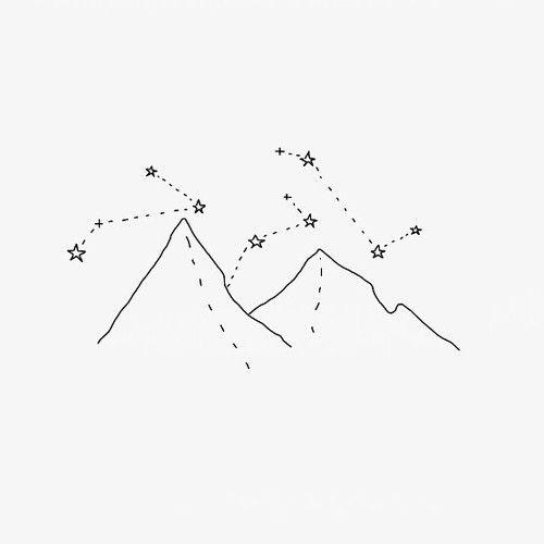 Tattoo Ideas Mountain Drawing Aesthetic Art Simple