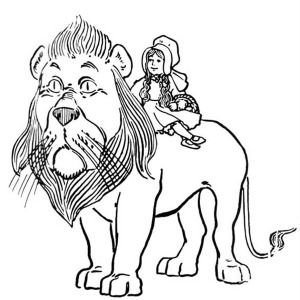 The Lion From The Wizard Of Oz The Wizard Of Oz Dorothy Ride