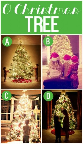 """101 Creative Christmas Card Ideas--""""O Christmas Tree"""". I want to do the one in the bottom right on #19 with Mark"""