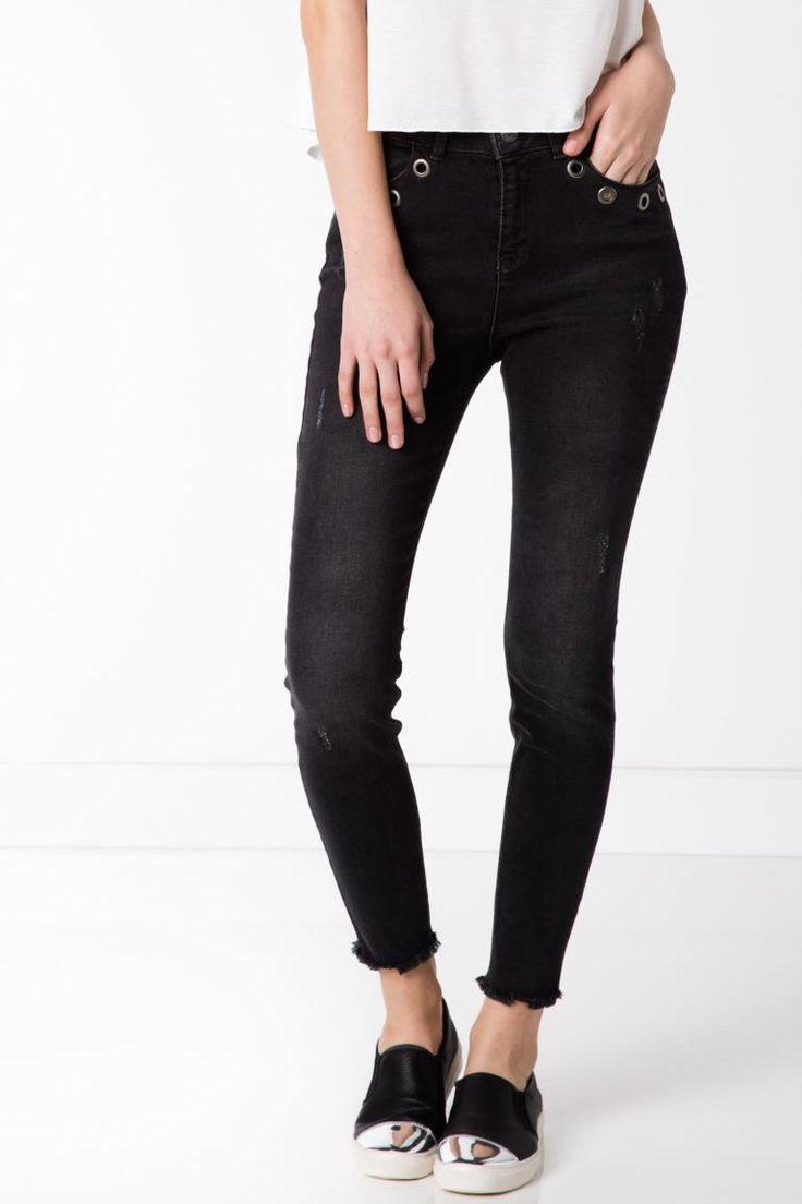 DeFacto Antrasit Kadın Süper Skinny Denim Pantolon 1