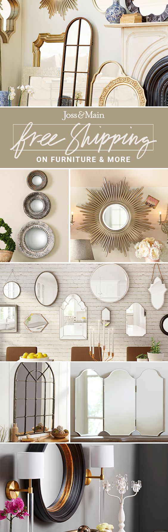 Mirrors at jossandmain.com! Sign up to find out more about FREE SHIPPING on all orders over $49!
