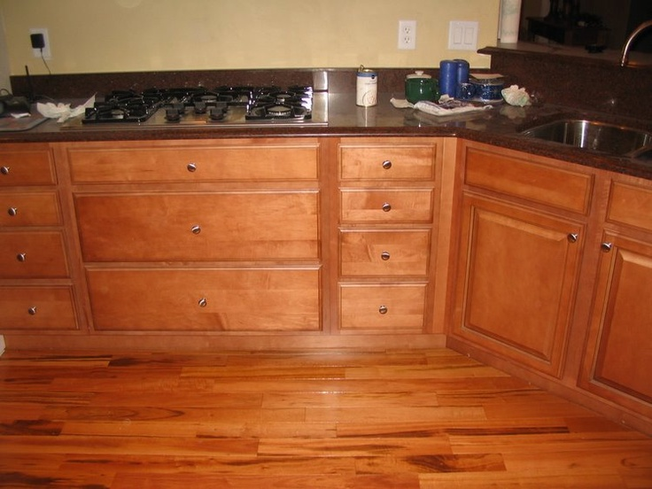 Wood Cabinets With Tigerwood Floor, Think Both Are Diminished.