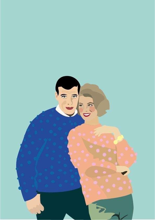 Illustration d'un couple - © Amélie Poirier http://poirieramelie.blogspot.fr