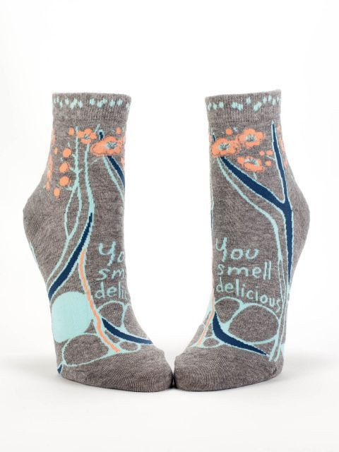 You smell delicious - Novelty Women's Ankle Socks by NavyaOnline on Etsy