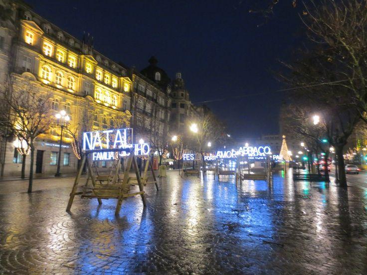 Avenida dos Aliados at christmas