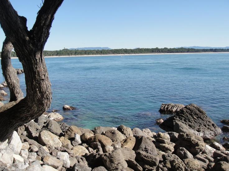 A view to Matakana Island from the Mount walkway