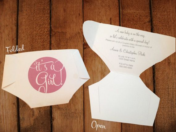 folded diaper invitation templates with how to make your own diaper shaped baby shower