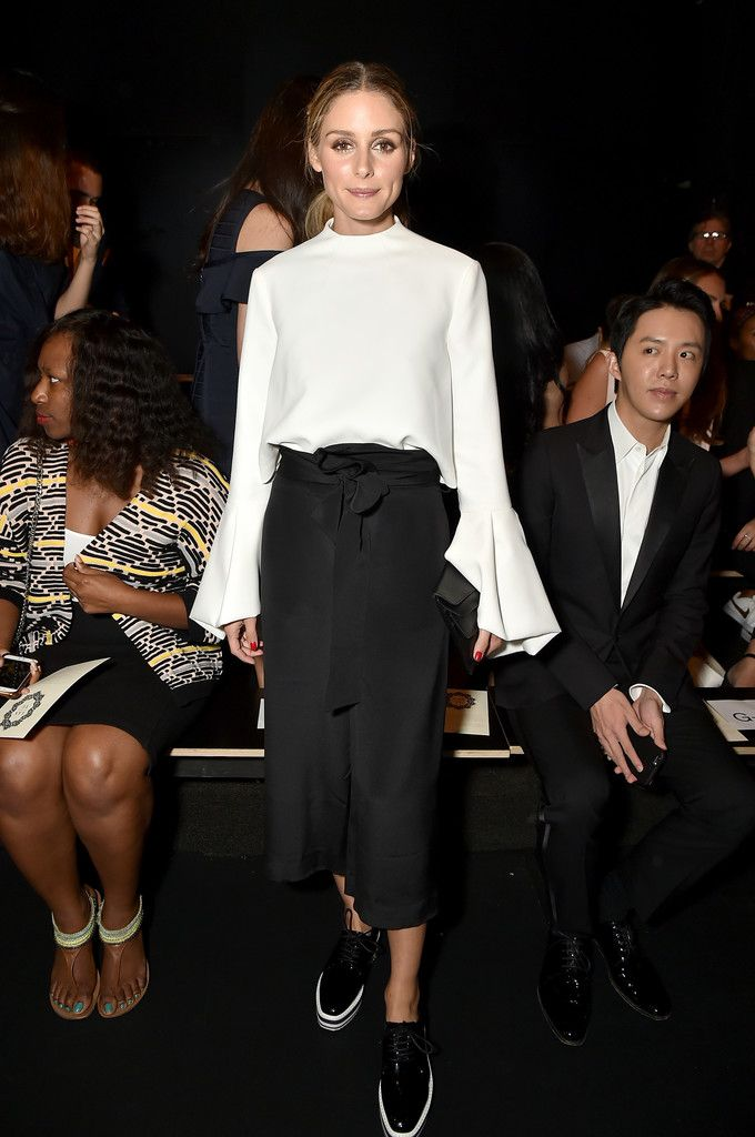 Olivia Palermo Photos Photos - Olivia Palermo backstage at the Lanyu fashion…
