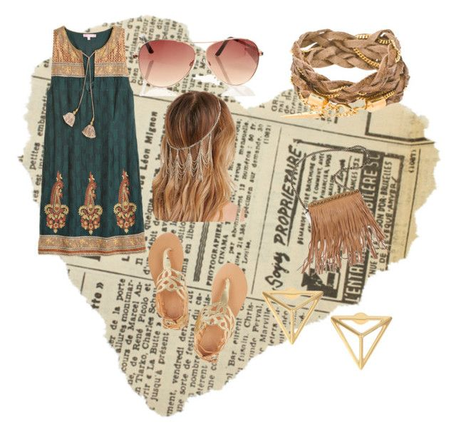 Sin título #11 by dancbc on Polyvore featuring moda, Calypso St. Barth, Ancient Greek Sandals, Patchington and Forever 21