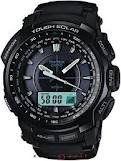 Casio Men,s Protrek Triple Sensor Tough Solar Alarms World Time LIMITED EDITION Watches PRG510-1