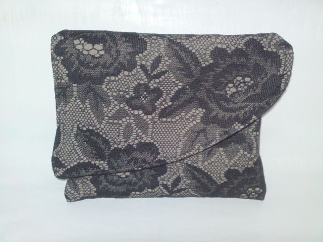 Black clutch with lace