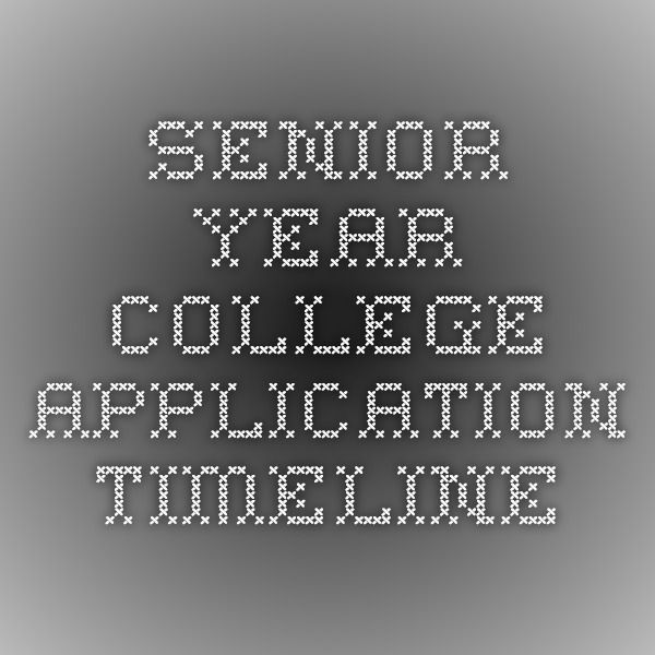 Senior Year College Application Timeline