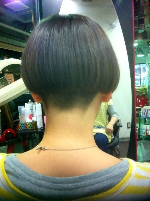 Buzzed Nape Hairstyle Try Bobs Pixies