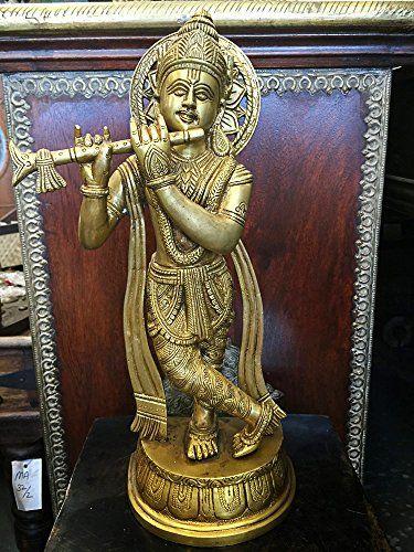 Brass Figurines of Hindu God Krishan Statue Idol Playing ... https://www.amazon.ca/dp/B00VHKLP88/ref=cm_sw_r_pi_dp_x_bw18xbZVXRJAP