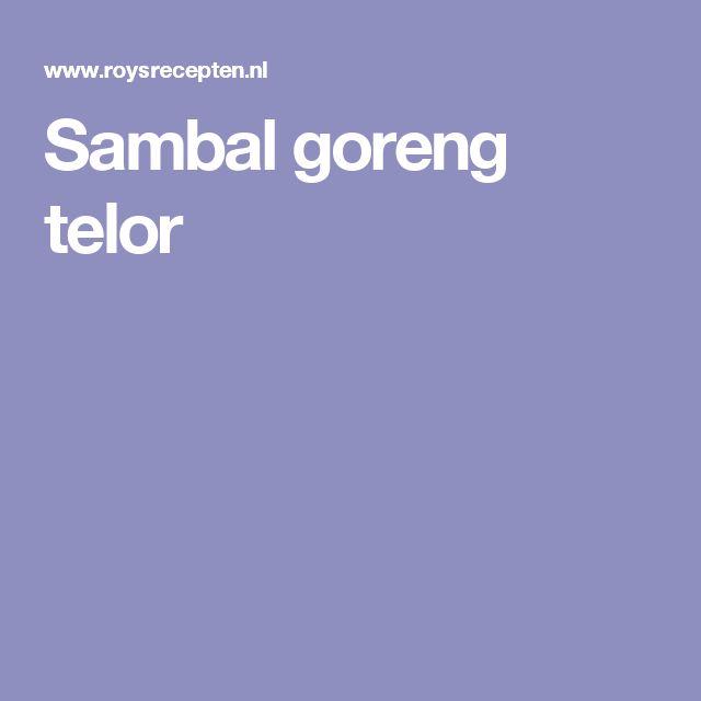 Sambal goreng telor