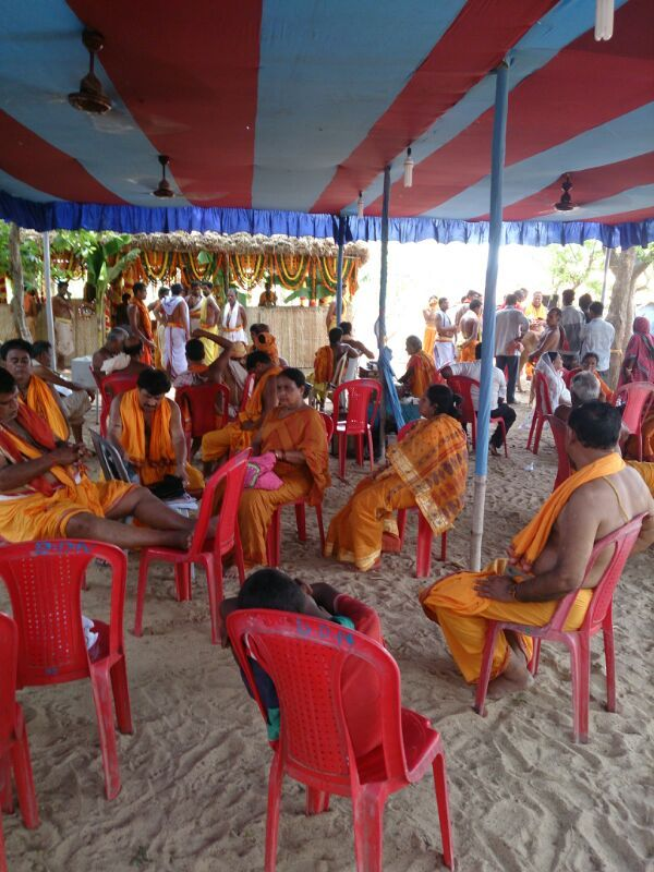 Gathering during the course of Yajna at Jajpur Biraja Khsetra performed in June 2014