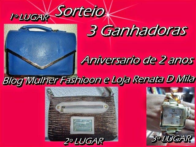 31º SORTEIO DE ANIVERSARIO DO BLOG MULHER FASHIOON