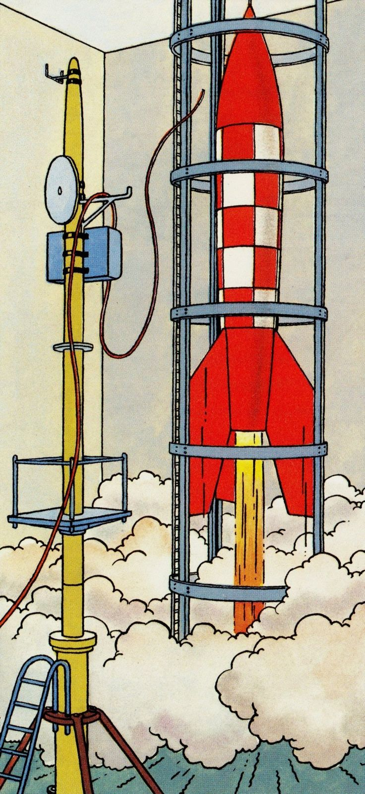 Herge From Tintin Magazine 1952 April 23 Blue Coloring