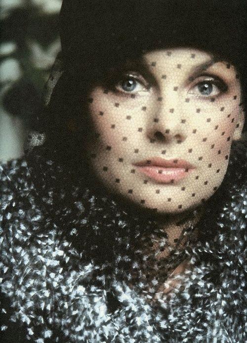 Jean Shrimpton photographed by David Bailey for Vogue UK, September 1973.