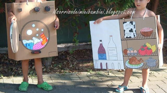Il Sorriso dei miei Bambini: Carnevale: come vestirsi da lavatrice e frigorifero