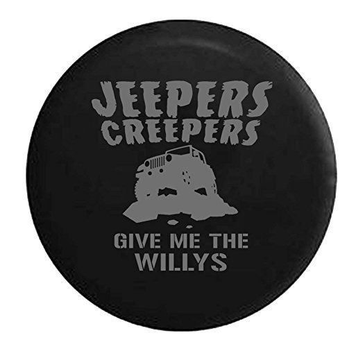 Stealth  Jeepers Creepers Give me the Willys Jeep Wrangler Spare Tire Cover OEM Vinyl Black 3233 in -- Be sure to check out this awesome product.
