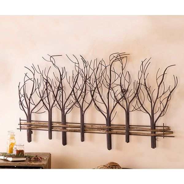 Metal and Natural Vine Tree Wall Décor