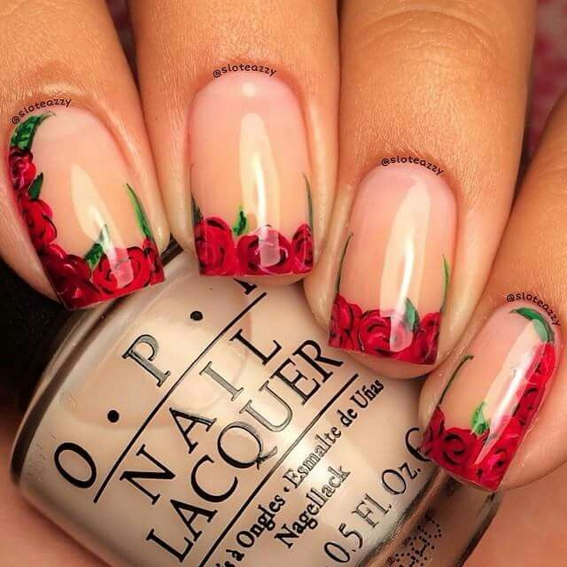 1747 best nail essence images on pinterest nail designs party roses are red nail design prinsesfo Choice Image