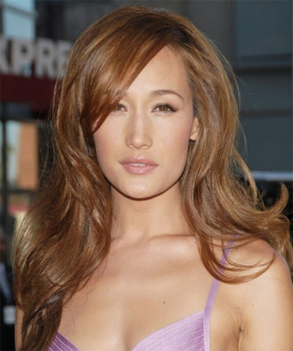 Light brown hair on Asian, Maggie Q