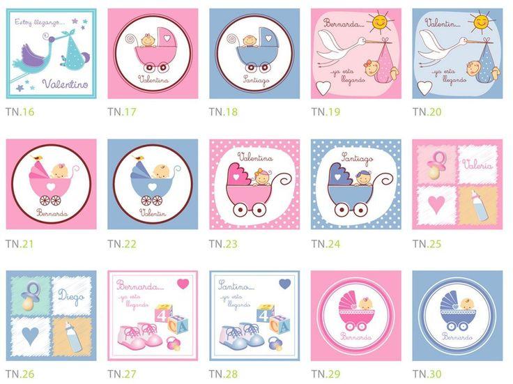 Etiquetas Para Nacimiento, Baby Shower, Bautizo 12 X 60bs
