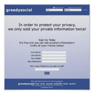 Greedy Social Print