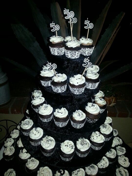 50th Birthday Cupcake Tower For Him 323 821 4808 Baking