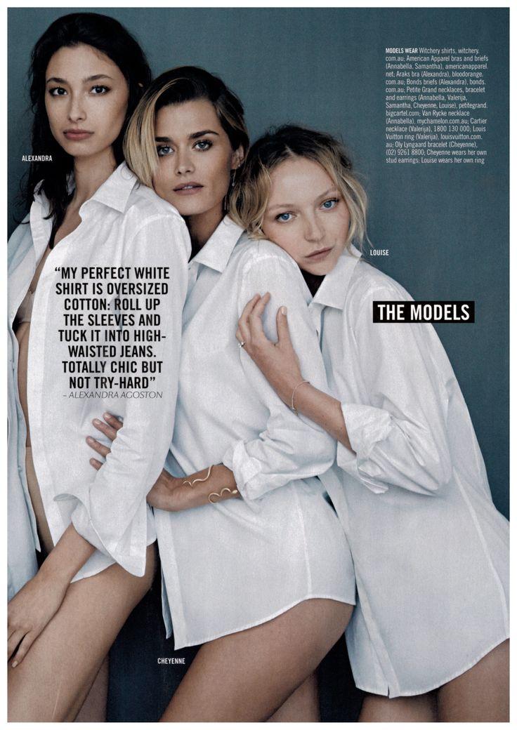 Cheyenne Tozzi wearing OLE LYNGGARD COPENHAGEN Snake bracelet in Sunday Style Magazine - The White Issue styled by Rachel Wayman.
