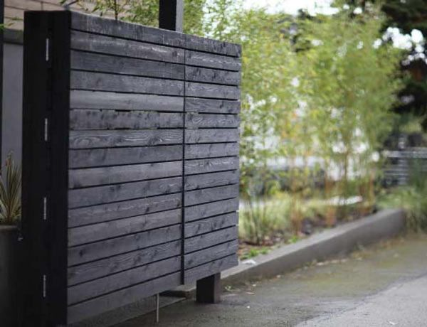 Cedar Gate Stained Black Bamboo Modern Landscape Seattle